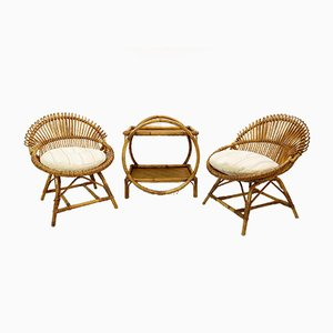 Bamboo Seating Garden Set, 1970s