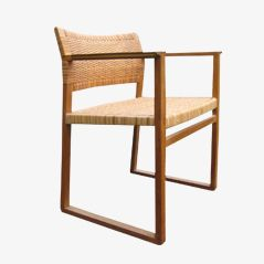 BM 62 Oak Armchair by Børge Mogensen for P Lauritsen and Sons