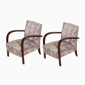 Czech Art Deco Beech Armchairs, 1920s, Set of 2