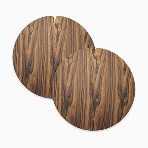 Table Mats Nelumbo by Andrea Gregoris for Lignis®, Set of 2