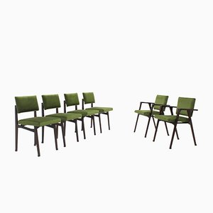 Mid-Century Rosewood Luisella & Luisa Dining Chairs by Franco Albini for Poggi, Set of 6