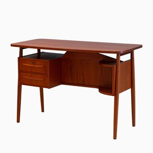 Teak Writing Desk by Gunnar Nielsen Tibergaard for Tibergaard, 1960s
