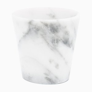 Grappa Glass in White Carrara Marble from Fiammettav Home Collection
