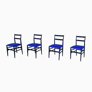 Mid-Century Model Leggera Chairs by Gio Ponti, Set of 4