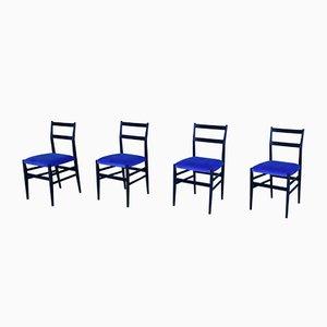 Mid-Century Model Leggera Chairs by Gio Ponti, Set of 4