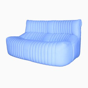Vintage 2-Sitzer Sofa aus weißem Leder von Ligne Roset