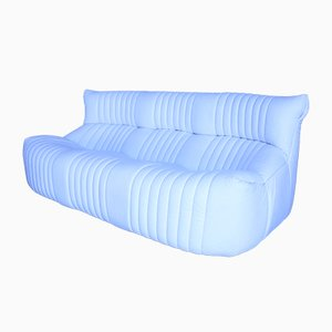 Vintage White Leather 3-Seater Sofa from Ligne Roset