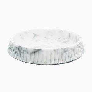 Gestreifter Tafelaufsatz aus Weißem Carrara Marmor von Fiammettav Home Collection