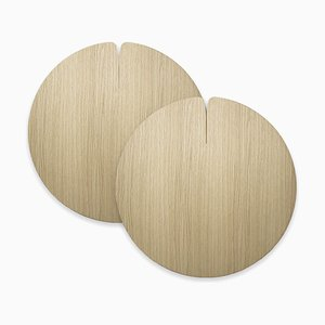 Medium Table Mats Nelumbo by Andrea Gregoris for Lignis®, Set of 2