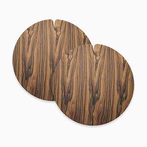 Medium Table Mats Nelumbo by Andrea Gregoris for Lignis®, Set of 2