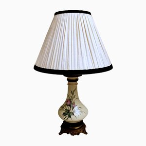 Napoleon III Style French Petrol Table Lamps from Porcelains de Paris, Set of 2
