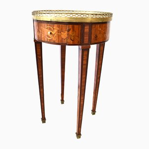 Antique Louis XVI Rosewood Inlaid Bouillotte Table