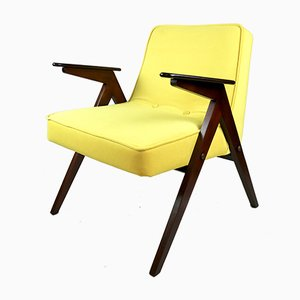 Vintage Yellow Armchair by Józef Chierowski, 1970s