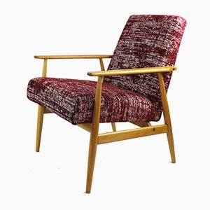Vintage Burgundy Easy Chair, 1970s