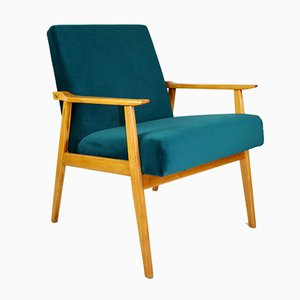 Vintage Green Light Easy Chair, 1970s