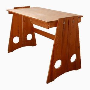 Mid-Century Swedish Pinewood Desk by Gilbert Marklund, 1970s