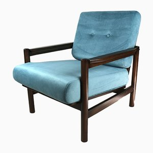 Vintage Turquoise Armchair, 1970s