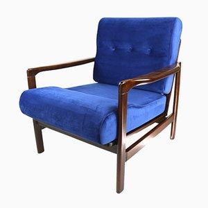 Butaca vintage en azul de Z. Baczyk, años 70