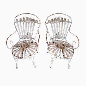 Antike Gartenstühle, 2er Set