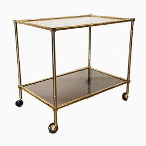 Vintage Faux Bamboo Trolley, 1970s