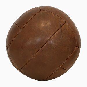 Vintage Medizinball aus Leder, 1930er