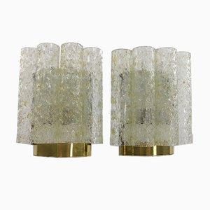 Applique tubolari di Doria Leuchten, anni '60, set di 2
