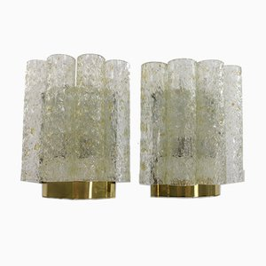 Röhrenförmige Wandleuchten von Doria Leuchten, 1960er, 2er Set