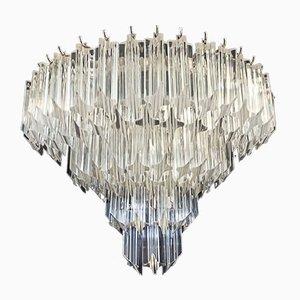 Vintage Murano Glas Wandleuchten mit 63 transparenten Quadriedri, 1979, 2er Set
