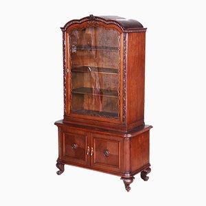 Art Deco Czech Brown Oak Display Cabinet, 1920s