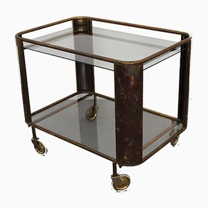 Art Deco Brass Serving Trolley, 1930s