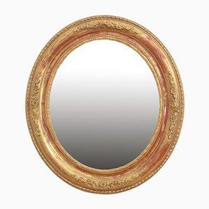 Specchio da parete vittoriano in legno dorato