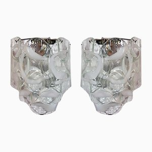 Vintage Italian Murano Glass Sconces, 1979, Set of 2