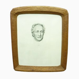 Anthroposophical Oak Picture Frame, 1920s