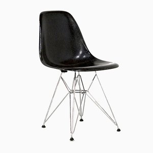 Black Fiberglass Dining Chairs by Charles & Ray Eames for Vitra, 1984, Set of 6