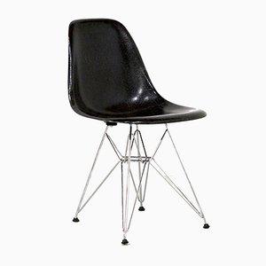 Chaises de Salon en Fibre de Verre Noire par Charles & Ray Eames pour Vitra, 1984, Set de 6