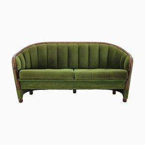 Sofá de dos plazas italiano estilo Gio Ponti, años 50