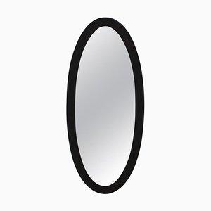 Specchio Art Deco in legno nero, anni '30