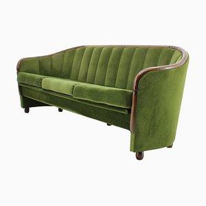 Sofá de tres plazas italiano estilo Gio Ponti, años 50