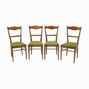 Buchenholz Esszimmerstühle, 1960er, 4er Set