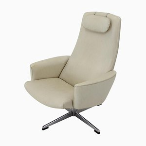Swedish Beige Swivel Chair from Asko, 1970s