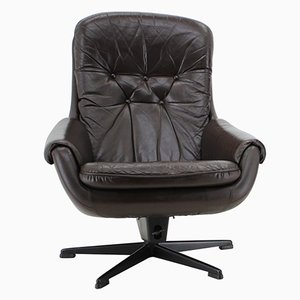 Scandinavian Leather Armchair or Lounge Chair from PEEM, 1970s