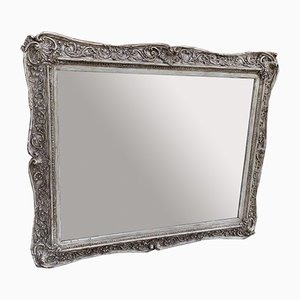 Gemusterter Spiegel aus Holz & Gesso, 19. Jh