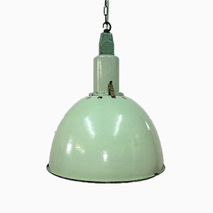 Large Green Soviet Factory Industrial Pendant Light