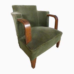 Vintage Art Deco Armchairs, Set of x