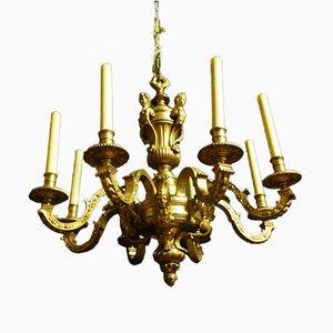 Lustre Style Louis XIV en Bronze Doré