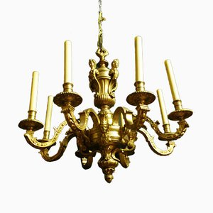 Vergoldeter Bronze Kronleuchter im Louis XIV Stil