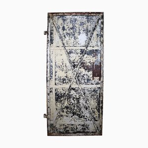 Antique French Industrial Patinated Iron Door