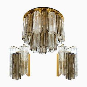 Murano Glas Leuchten von JT Kalmar, Österreich, 1960er, 3er Set