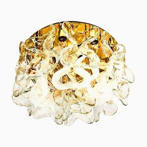 Murano Glass Catena Flush Mount Chandelier by J.T. Kalmar, 1960s