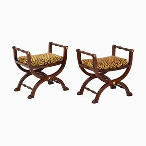 Empire Style Curcule Seats, 1950s, Set of 2